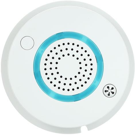 WIFI + APP Sensor de temperatura y humo de fuego, Detector de temperatura de humo 2 en 1(no se puede enviar a Baleares)