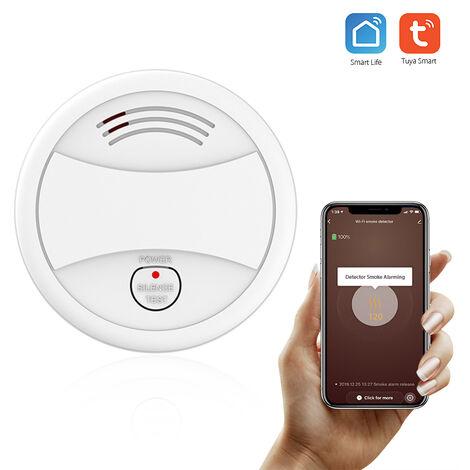 Wifi Detector de humo, alarma de incendios inteligente del sensor Sistema de seguridad inalambrica