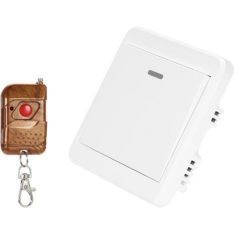 WiFi Door Exit Button 433MHz Wireless Release Push Switch White