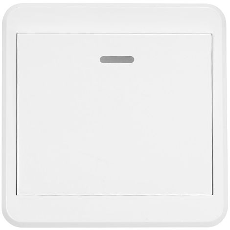WiFi Door Exit Button Wireless Release Push Switch White