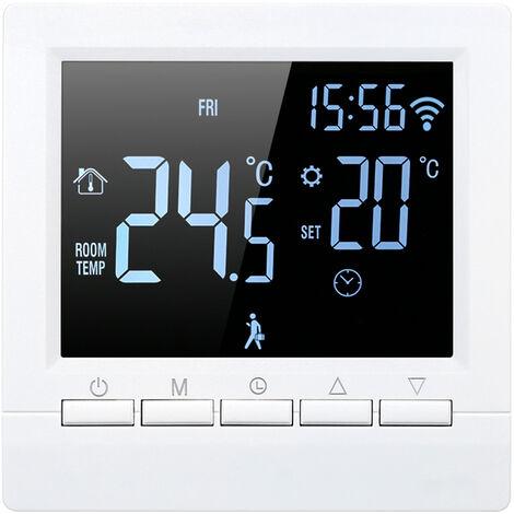 Wifi elektrische Heizung Thermostat APP Wochenprogramm, 16A manuelle Schlussel erhebliche negative Schwarz-Wei?