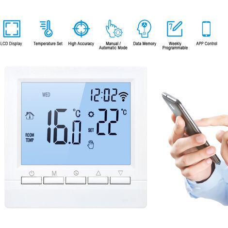 WiFi elektrische Heizung Thermostatsteuerung APP Umfang signifikante positive Programmierhandtaste 16A blau schwarz
