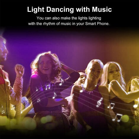 Wifi LED luces de tira Kit 5M / 16,4 pies Longitud RGB cinta inteligente luz Ewelink Remote App regulable cambio de color compatible con Amazon Alexa Google Home Bar decoracion del hogar