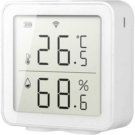 WIFI maison intelligente Hygromètre de thermomètre numérique précis WIFI capteur dhumidité de la température capteur de température sans fil système de scène domotique Compatible avec Alexa