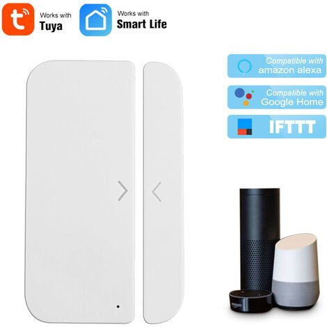 Wifi Porte Fenetre D'Alarme Sensor Detecteur Smart Home Security Tuya Control App Compatible Amazon Alexa Google Assistant De Ifttt