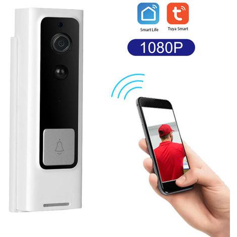 WiFi Smart Security timbre de HD 1080P, TuyaSmart aplicacion de control remoto, vision nocturna