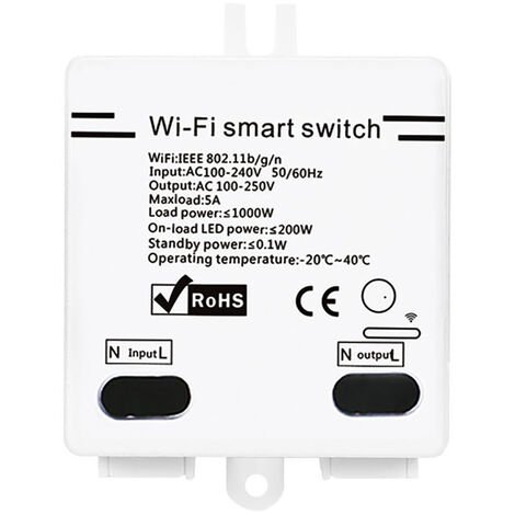 Wifi Smart Switch With Timer Function Remote Control White