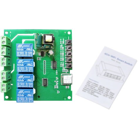 WiFi Smart Voice Control Switch (Motherboard without Shell)