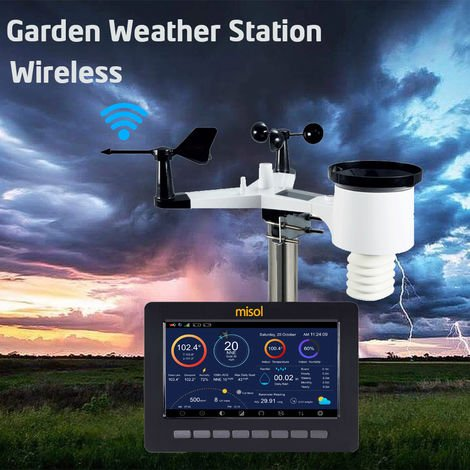 WiFi Station météo sans fil charge solair avec transmissio - Chargement de données Fonction de stockage