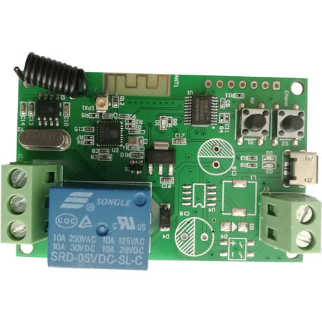 Wifi Switch Wireless Relay Module RF 433MHz Remote Switch Dark green