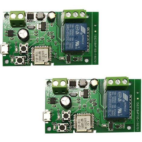Wifi Switch Wireless Relay Module Smart Home Automation Modules Green