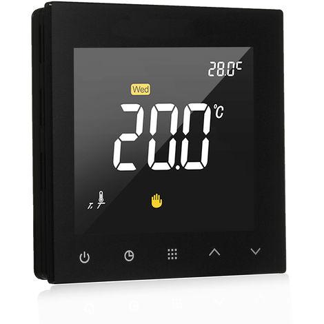 WIFI termostato inteligente programable Planta de calefaccion Temperatura controlador de pantalla tactil color de la pantalla wiht App de control remoto