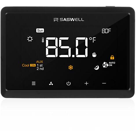 Wifi termostato programable con 4 pulgadas de pantalla tactil compatible con Alexa Google Inicio Etapas Hasta 3H / 2C 2H / 1C Control de Bomba de Calor Con humidificador / deshumidificador