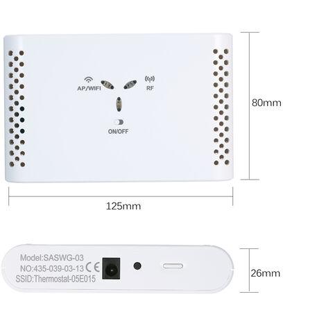 Wifi Thermostat Intelligent Regulateur De Temperature Recepteur Sans Thermostat Pour L'Eau Chauffage Au Sol Voix Telecommande
