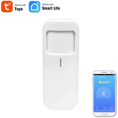 WIFI Wireless Sensor de movimiento PIR Detector infrarrojo pasivo ladron de la seguridad del sensor de alarma Tuya Control de APP, bateria incluida