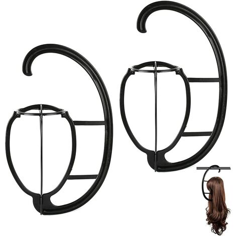 Wig Stand, 2Piece Wig Stand Wig Hangers Portable wig stand Wig stand for all wigs and hats Foldable wig stand Durable wig stand