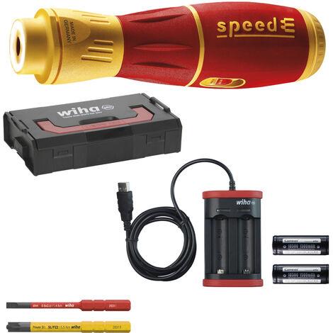 Wiha 44318 SpeedE II Juego de atornilladores en L-Boxx mini - 7 piezas - SL/PZ