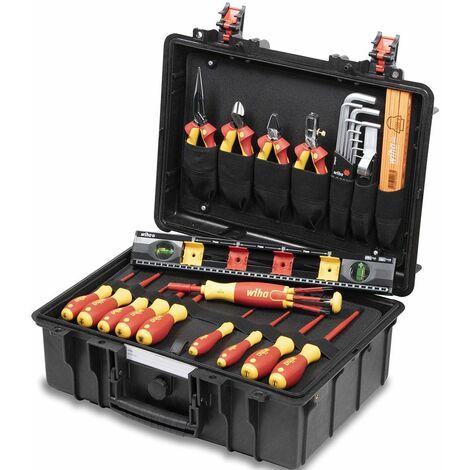Wiha 44505 - Coffret à outils pour électriciens - 34 pièces - Basic set L
