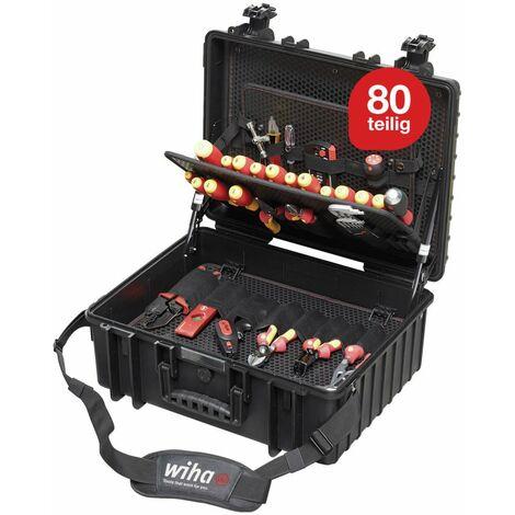 WIHA 9300-702 COFFRET 80 pi?ces Competence XL - Set d'outillage équipé pour électriciens Competence XL