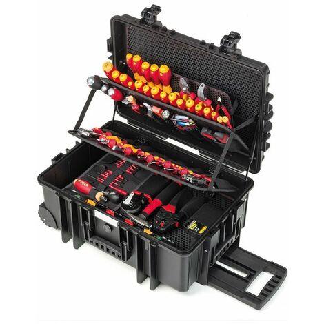 Wiha Jeu d'outils électricien Competence XXL II Mélangé, 115 pcs dans un coffret - 42069