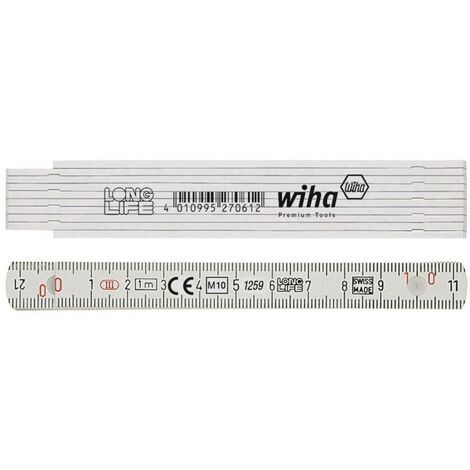 Wiha Longlife 27062 Mètre pliant 1 m Polyamide