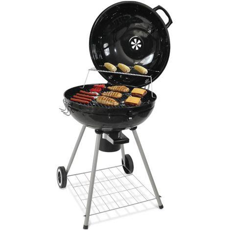 WIHHOBY Barbecue à charbon sphérique 68*58*90cm noir