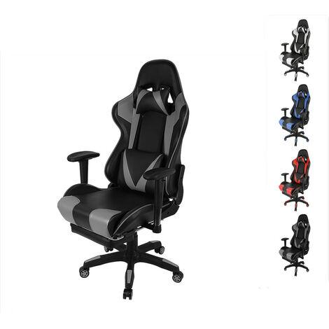 WIHHOBY Chaise de Bureau Gamer - Réglable à 180° - L 54 x P 70 cm