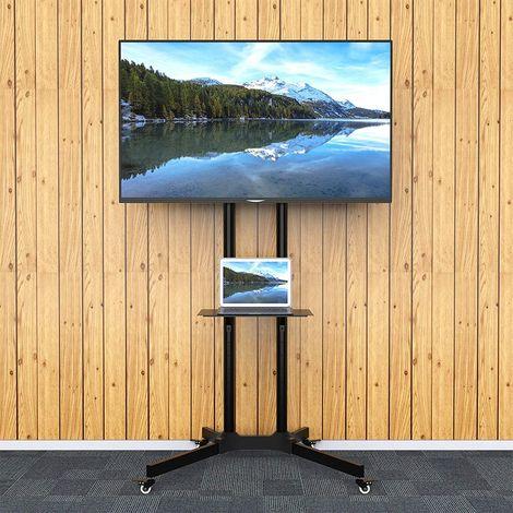 """WIHHOBY Support Mural TV Sur Pied Chariot Réglable Pour Ecrans LCD/LED/Plasma de 32"""" à 65"""""""