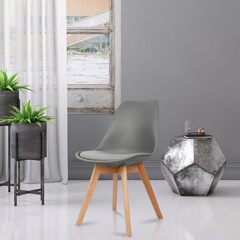 Wihobby 4 chaises design contemporain nordique scandinave