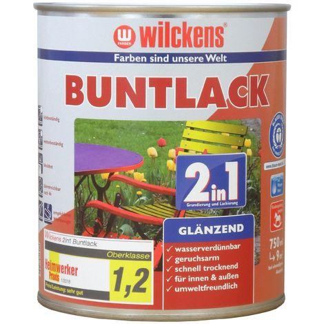 Wilckens 2in1 Buntlack glänzend Enzianblau 0,75 L10451000_050