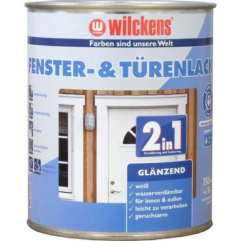 Wilckens 2in1 Fenster- & Türenlack glänzend Weiß 0,75 L12993000_050