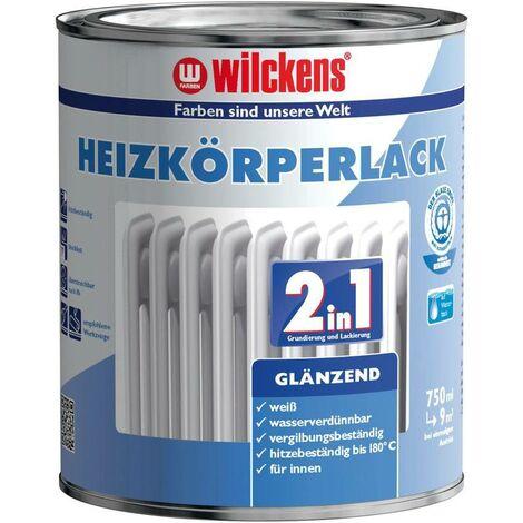 Wilckens 2in1 Heizkörperlack glänzend Weiß 750 ml