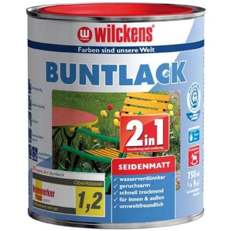 Wilckens Buntlack 2in1, 125 ml seidenmatt, reinweiß RAL9010