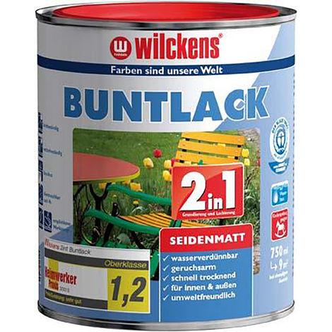 Wilckens Buntlack 2in1, 125 ml seidenmatt tiefswz. RAL9005