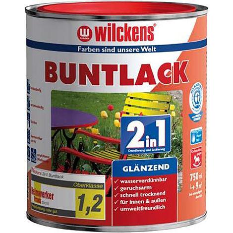 Wilckens Buntlack 2in1, 375 ml glänzend, feuerrot RAL3000