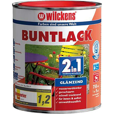 Wilckens Buntlack 2in1, ,375 ml glänzend,lichtgrau RAL7035