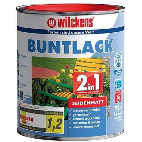 Wilckens Buntlack 2in1, 375 ml seidenmatt tiefswz. RAL9005