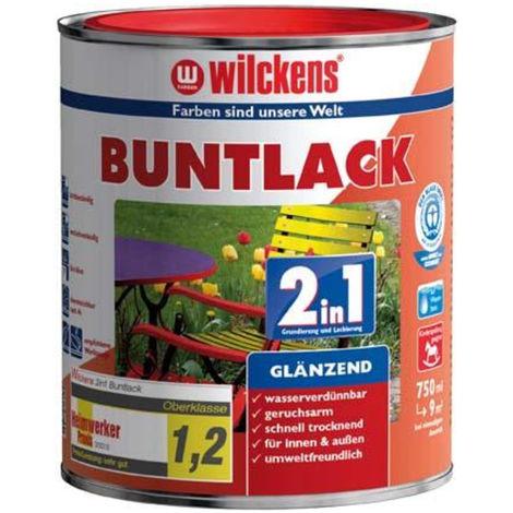 Wilckens Buntlack 2in1, ,750 ml glänzend, tiefschwarz RAL9005