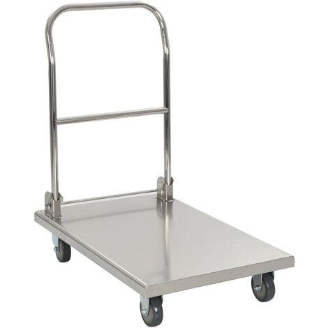 Wilder 86 cm H x 53 cm W x 82 cm D 350kg Platform Trolley by Symple Stuff - Silver