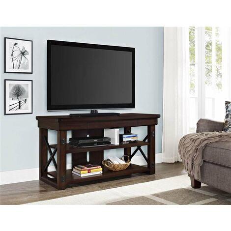 """Wildwood Wood Veneer Espresso TV Cabinet Unit For TVs Up To 50"""""""