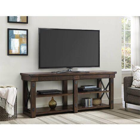 """Wildwood Wood Veneer Espresso TV Cabinet Unit For TVs Up To 65"""""""