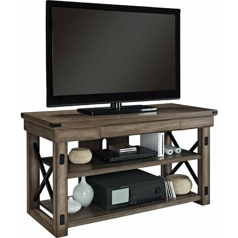 """Wildwood Wood Veneer Rustic Grey TV Media Cabinet Unit (50"""")"""