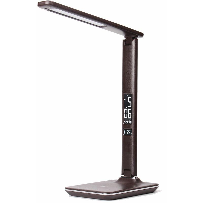 WILIT U13 9W Lampe de Bureau LED, Affichage de l'Heure, Pliable, 3 modes lumière