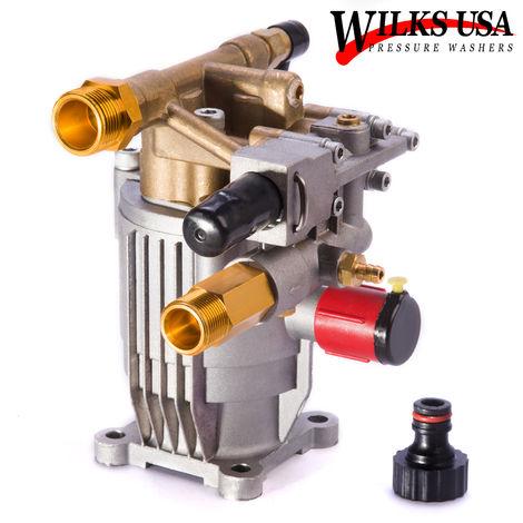 Wilks-USA - 2200 psi à 3 000 psi - Pompe de nettoyeur haute pression en laiton pour moteur de 6,5 à 8,5 hp