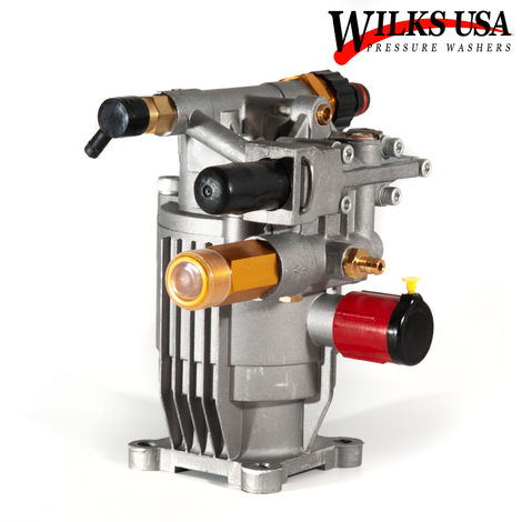 Wilks-USA - Aluminium Pressure Washer Pump (2200 - 3800PSI) for 6.5Hp to 8.5Hp Petrol Engine