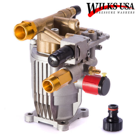 Wilks-USA - Brass Pressure Washer Pump (3700PSI to 4000PSI) for 6.5Hp to 8.5Hp Petrol Engine