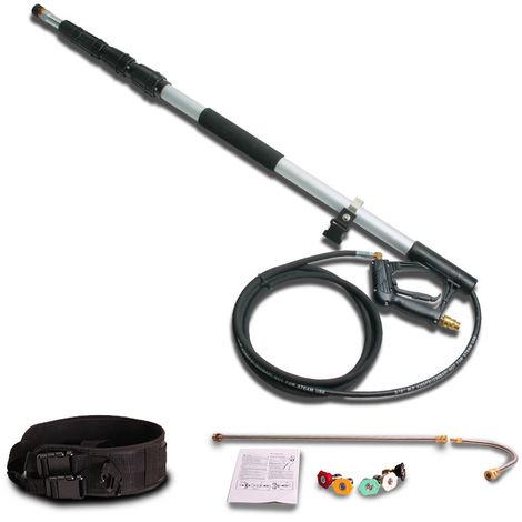 Wilks-USA - Nettoyeur haute pression Lance télescopique - 7.3m de haute qualité en aluminium