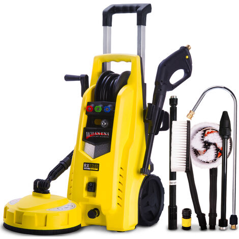 Wilks-USA - RX525 165 Bar, 2400 psi Electric Pressure Washer Power Jet with Patio Cleaner