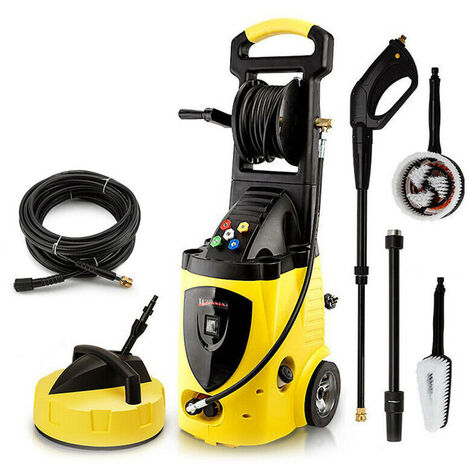 Wilks-USA - RX550 262 Bar, 3800 psi Electric Pressure Washer Power Jet with Patio Cleaner