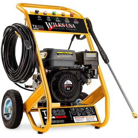 Wilks-USA TX625 - 3950 psi, 272 Bar Hidrolimpiadora de Alta Presión a Gasolina - 8,0HP